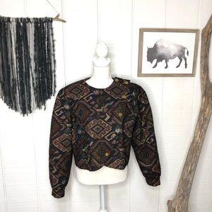 DonCaster tapestry Aztec print vintage jacket